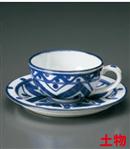 古代マジョリカ紅茶碗皿(セット)