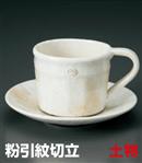 粉引紋切立コーヒー碗 C/S(セット)