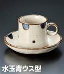 水玉青ウス型コーヒーC/S(セット)