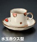 水玉赤ウス型コーヒーC/S(セット)