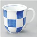 福市松マグカップ(青)