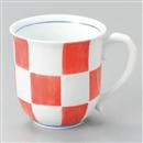 福市松マグカップ(赤)
