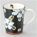濃草花マグカップ(黒)