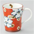 濃草花マグカップ(赤)