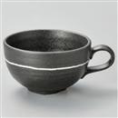 クラフトグレース黒スープカップ