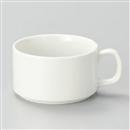白スタッキングスープカップ