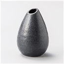 黒唐津しずく型花瓶