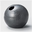 黒唐津小丸型花瓶