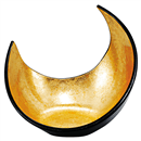 [A]三日月盛器 二色金箔