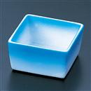 [陶]陶器角珍味 ブルー吹