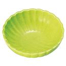[陶]菊小鉢 緑釉