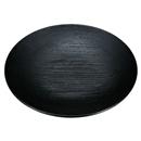 [A]5寸菓子皿 黒刷毛目