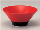 赤釉ハマ黒6.5麺鉢
